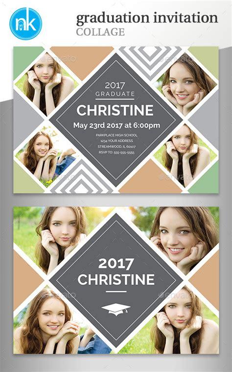 Free Collage Graduation Invitation Templates For Photoshop 187 Tinkytyler Org Stock Photos Graduation Photo Collage Template