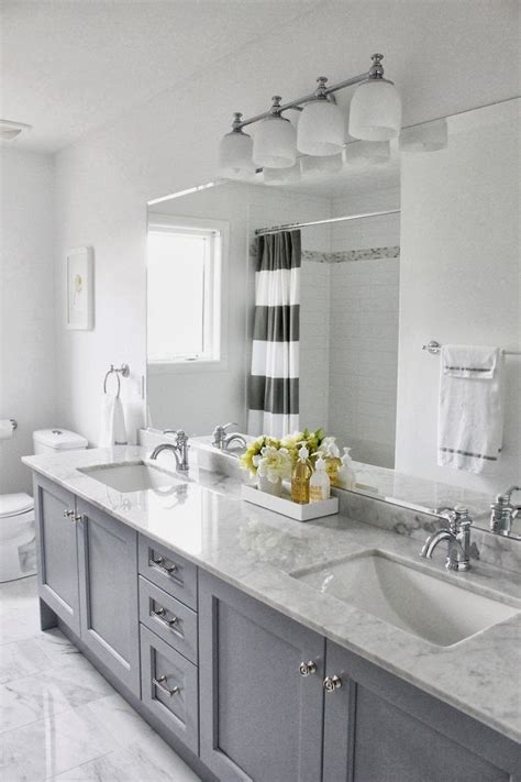 Gray Bathrooms | decorating cents gray bathroom cabinets