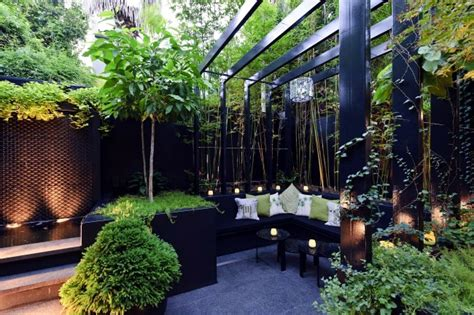 modern landscape architecture in the garden two