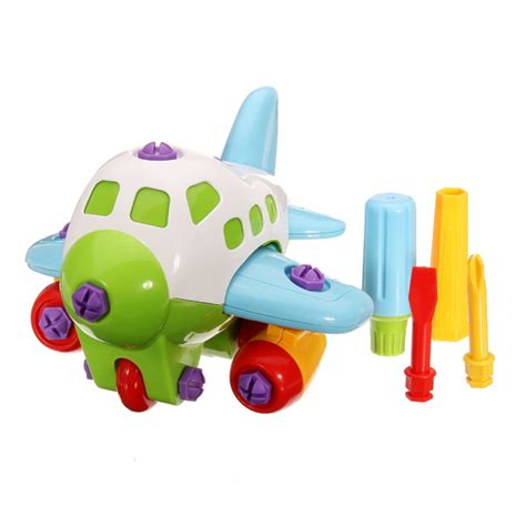 Diy Children Toys Child Disassembly And Assembly Airplane diy assembly plastic airplane education toys with tool alex nld