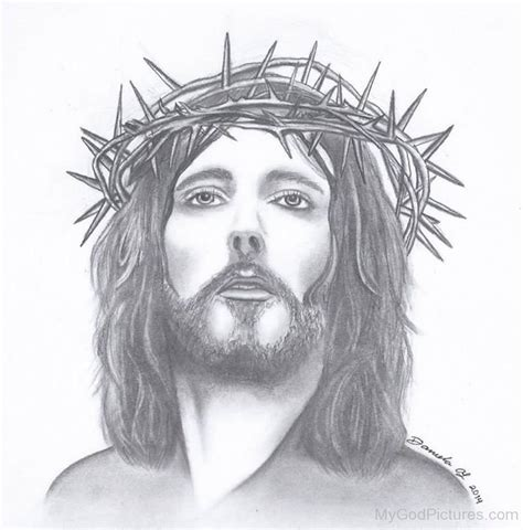 beautiful pencil sketch of jesus christ god pictures