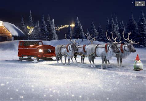 merry christmas santas sleigh   mercedes    configure   mercedesblog