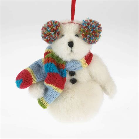 boyds bears freezie snowman bear plush christmas ornament