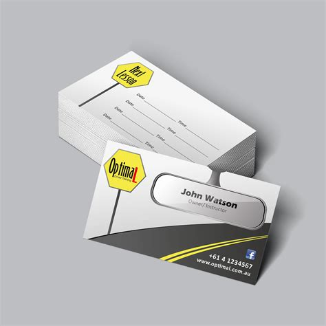 driving instructor business cards templates modern professional business business card design for a