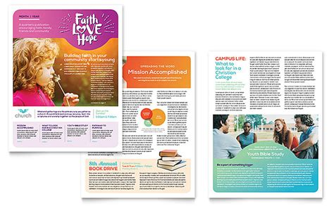 design newsletter templates church newsletter template design