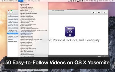 tutorial imovie os x yosemite app shopper tutor for os x yosemite reference