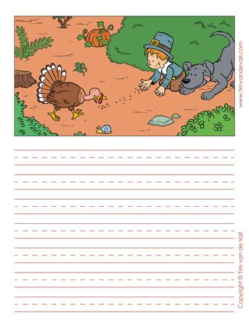 Thanksgiving Writing Paper Template by Printable Thanksgiving Writing Paper Templates