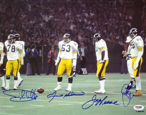 the steel curtain defense lambert with steel curtain autographed 16x20 pittsburgh