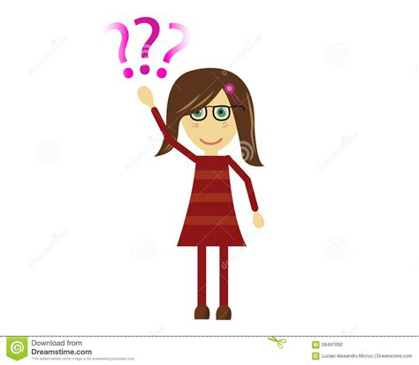 Stelan Cutie vector asking question stock illustration