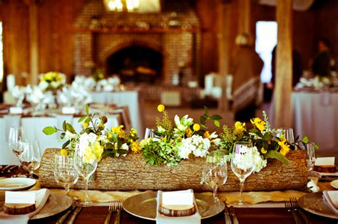wedding log centerpieces boone plantation wedding with log centerpieces