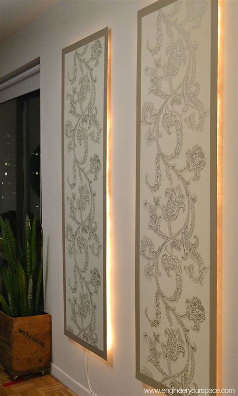 hometalk diy lighted wall panel