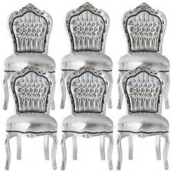 silver dining room set luxurious silver dining room chair set baroque furniture