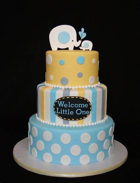 baby shower cakes baby boy elephant shower cakes