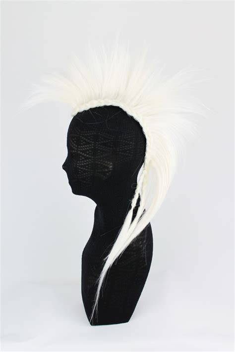 mohawk hair piece white clip on mohawk hair pieces synthetic heat resistance