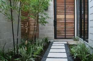 Mid Century Modern Mirrors cohen residence entry courtyard modern landscape