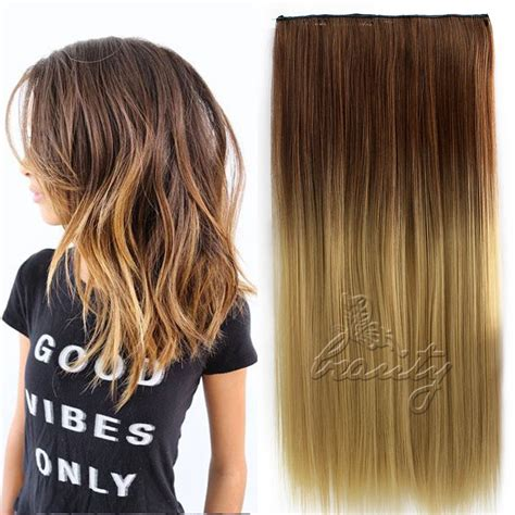 single clip in hair extensions 24 quot 60cm one 5 clip in hair extensions