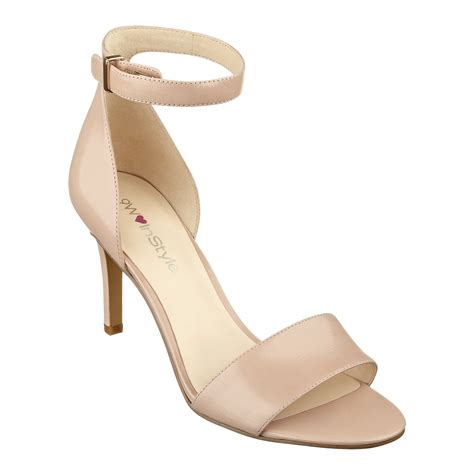 high heels nine west nine west izzy anklestrap high heels in beige light