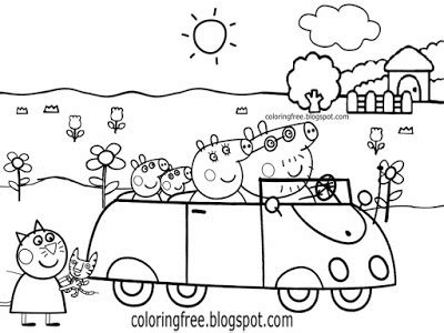 peppa pig car coloring pages colouring pages for peppa pig get this peppa pig coloring