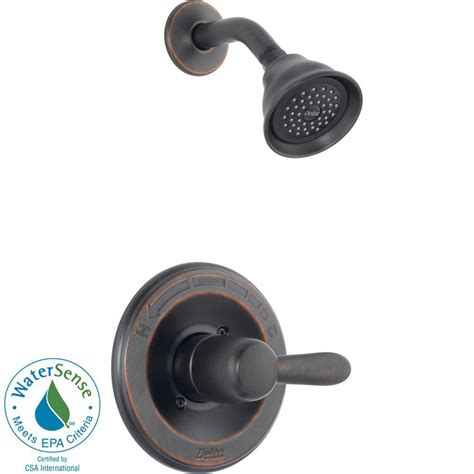 Delta Shower Faucets With Sprays by Delta Lahara 1 Handle 1 Spray Shower Faucet Trim Kit In