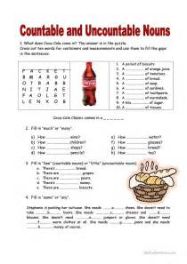 44 free esl countable and uncountable nouns worksheets