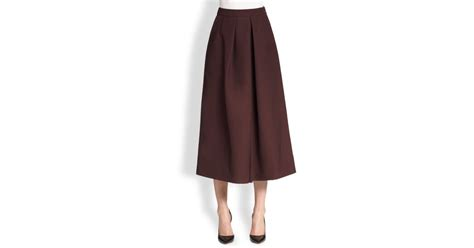 tome wide leg culottes in red lyst