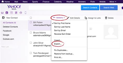 csv format for yahoo contact import fileflex help how to import from yahoo mail
