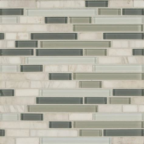 Metal Kitchen Backsplash Tiles bedrosians eclipse eternity linear glass stone blend mosaics