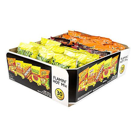 hot chips mix frito lay flamin hot mix box of 30 by office depot officemax