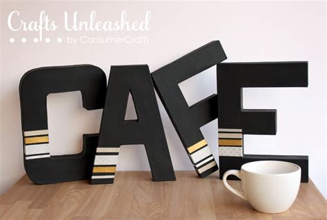 lifestyle cafe alphabet letters for unusual home decor washi tape paper mache letters tutorial
