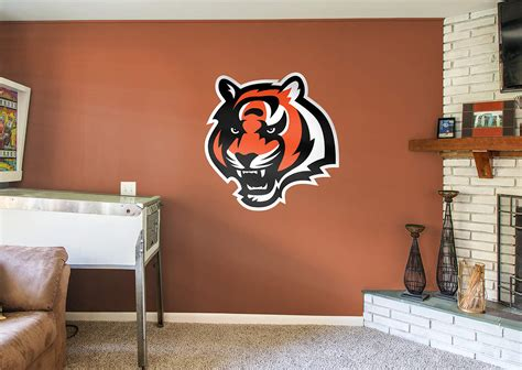 home decor cincinnati cincinnati bengals tiger logo wall decal shop fathead 174 for cincinnati bengals decor