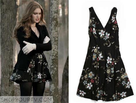 lydia martin style lydia martin holland roden wears this black floral dress