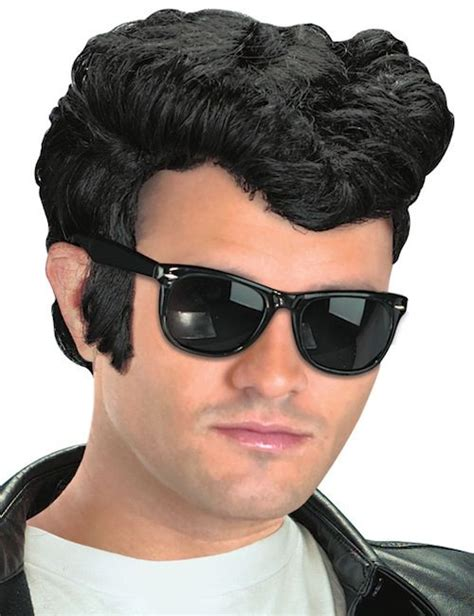 50s hair wigs for men greaser grease 50s danny t bird rock roll men costume wig