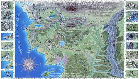 the five realms the beleriand and realms of the north by sirielle on