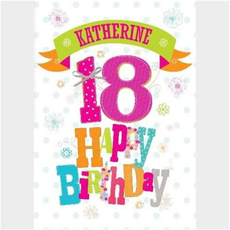 18th Birthday Card Personalised 18th Birthday Cards Gettingpersonal Co Uk