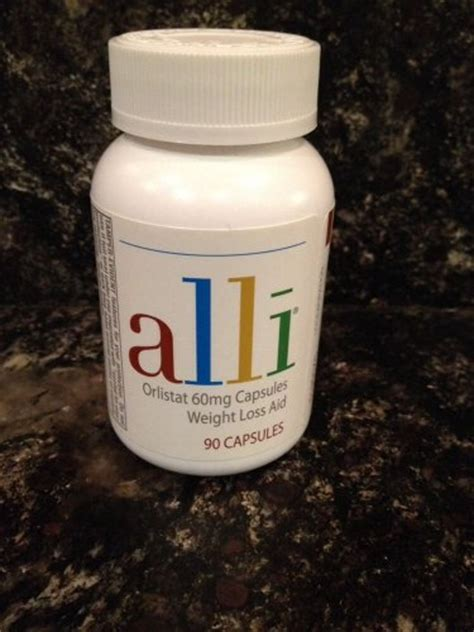 alli orlistat diet 60mg 90 capsules weight loss aid refill