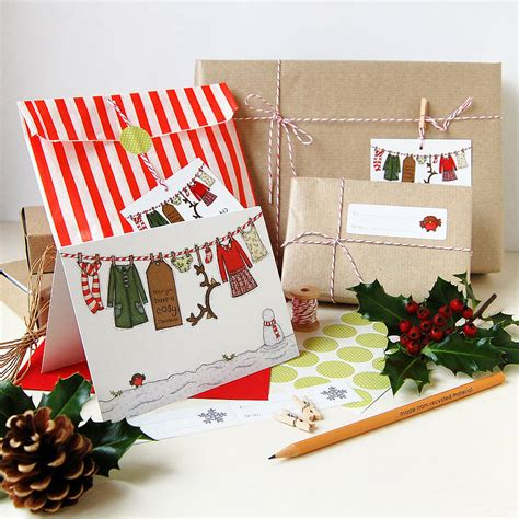 christmas gift wrapping kit by clara and macy