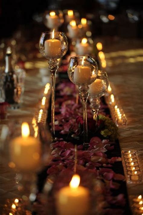 wedding tablescapes with candles 2 candle centerpieces