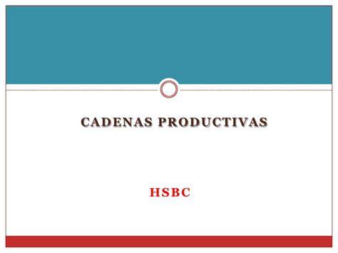cadenas productivas hsbc ejemplo de factoraje