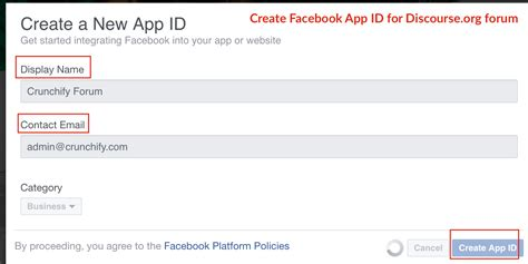 fb app id how to add sign up with facebook oauth option to
