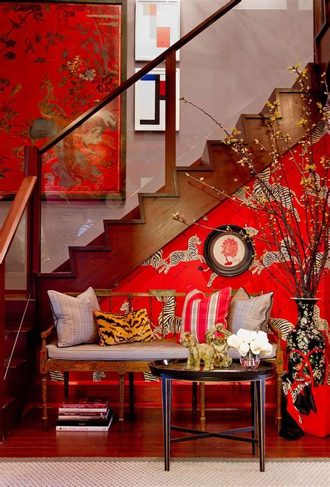 colorful entryway wallpaper 25 gorgeous entryways clad in wallpaper