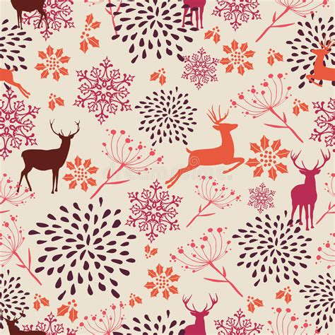 retro christmas pattern vector free vintage christmas elements seamless pattern backgr stock
