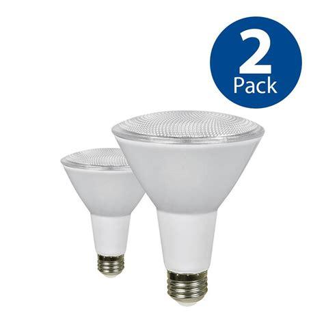 led light bulbs 75 watt equivalent shop utilitech 2 pack 75 w equivalent dimmable warm white