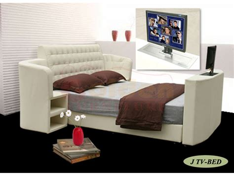 Bed With Tv In Footboard For Sale by King Size Leather Bed With Tv In Footboard Tv Beds Frames