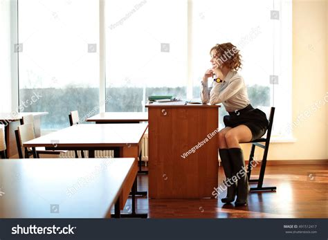 Sit At The Desk by Sit Desk Classroom Wait Students Stock Photo