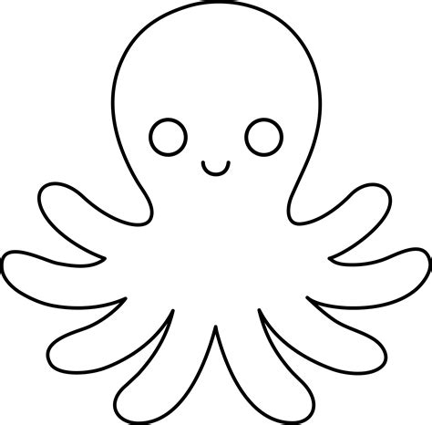 octopus template octopus line free clip