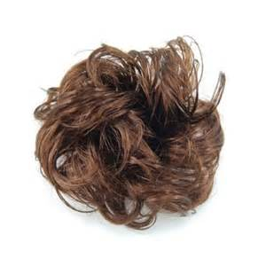 how do you put a pony scrunchie on hair womens girls long curly brown hair wig ponytail holder