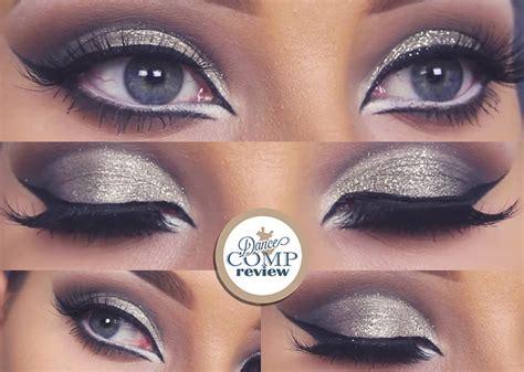 tutorial makeup dance glitter cut crease makeup tutorial dance comp review