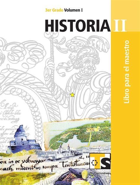 libro para el maestro historia 4 grado sep diario historia ii vol i by pedro fabela issuu