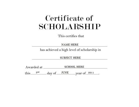 certification letter for scholarship geographics certificates free word templates clip