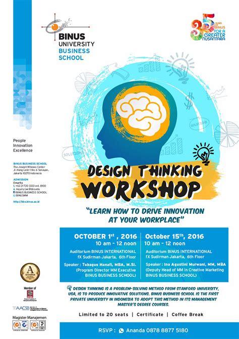 Design Thinking Workshop Indonesia | gratis workshop design thinking di binus business school
